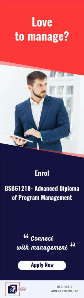 BSB61218 Advanced Diploma of Program Management Course in Melbourne - Swiss Institute Australia Provide BSB61218 Advanced Diploma of Program Management in Melbourne
